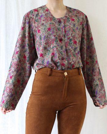 Vintage blouse gypsy roze T822