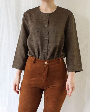 Vintage blouse pale brown T692