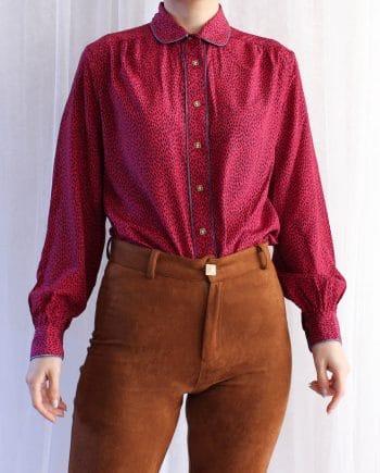 Vintage blouse roze blauw T705