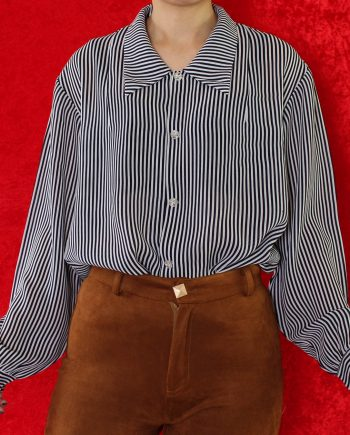 Vintage blouse stripe navy T807