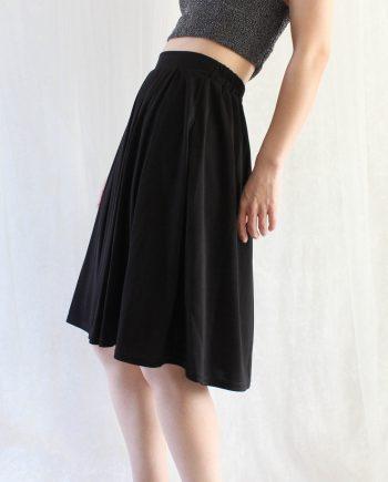 Vintage rok basic zwart T601.3