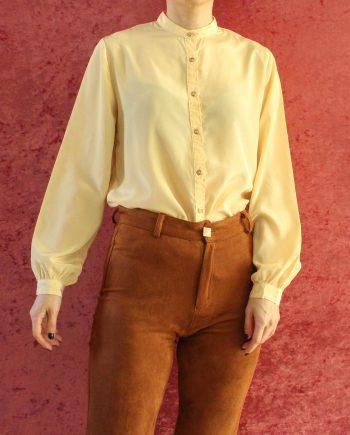 Vintage blouse basic geel T301