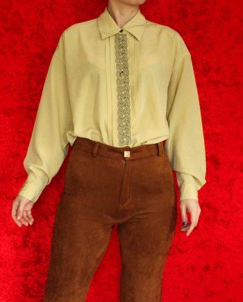 Vintage blouse geel basic T818