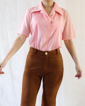 Vintage blouse roze T703