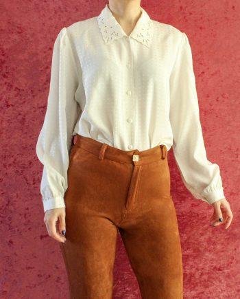 Vintage blouse wit lace collar T690.5