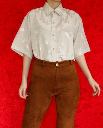 Vintage blouse beige basic T640.1