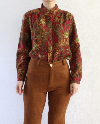 Vintage blouse bohemian bloem T850