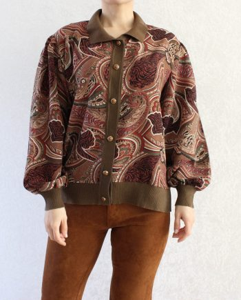 Vintage blouse gypsy bruin rood T801