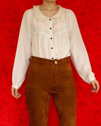Vintage blouse lace off white T360