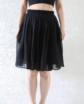 Vintage rok high waisted zwart T301