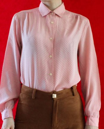 Vintage Blouse Roze Pattern Maat XS T848