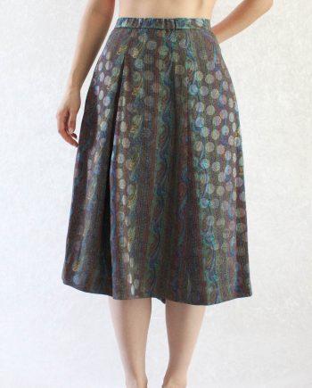 Vintage Rok Bohemian Pattern Maat XL T843