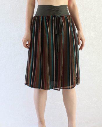 Vintage Rok Stripe Groen Maat S T690.2