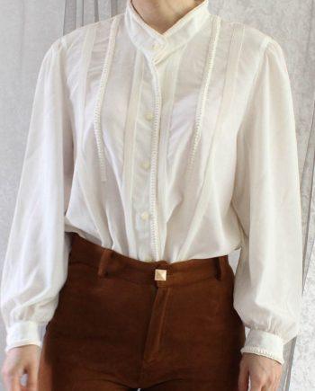 Vintage Shirt Wit Basic Maat M T821