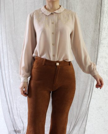 Vintage Shirtje Bloem Hollow Maat XS T662