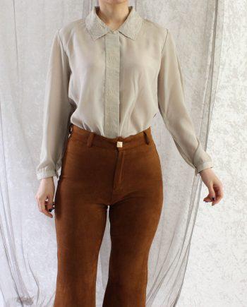 Vintage blouse beige grijs T803