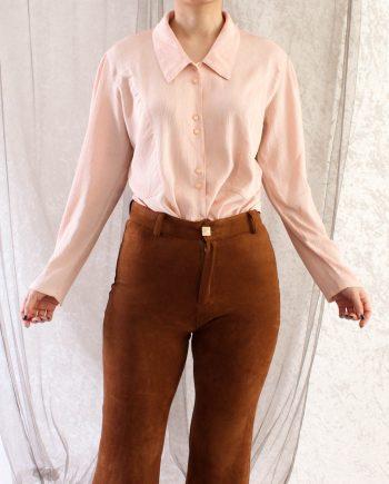 Vintage blouse roze chic T601.4
