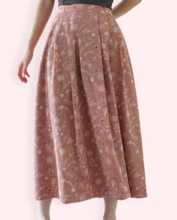 Vintage Full Skirt Flowers Size M T844