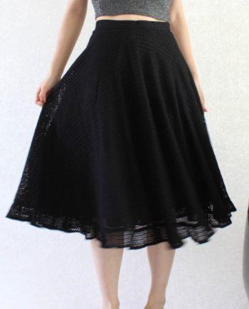 Vintage Maxi Skirt Black Size XS T691.1