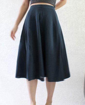 Vintage Romantic Skirt Blue Size M T691.2