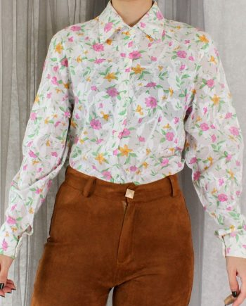 Vintage blouse bloem T702
