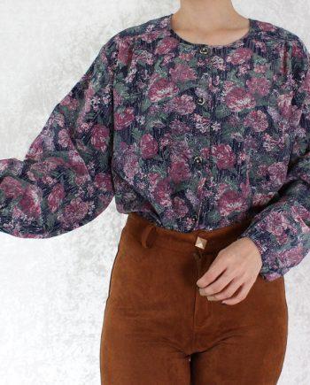Vintage blouse bloem roze T705