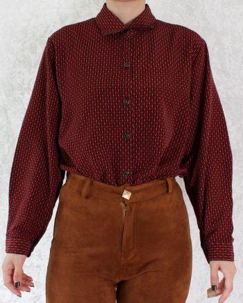 Vintage blouse rood zwart T705