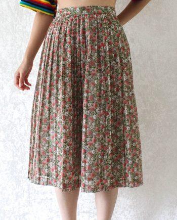 Vintage rok bloem roze T690