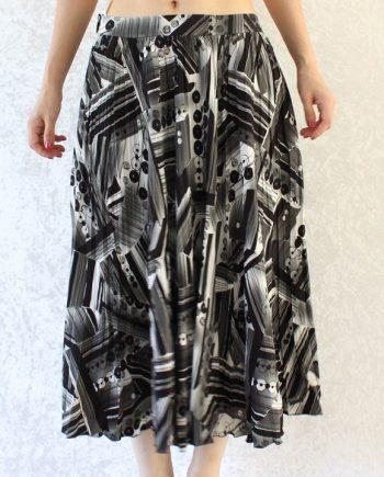 Vintage rok zwart wit grijs T681
