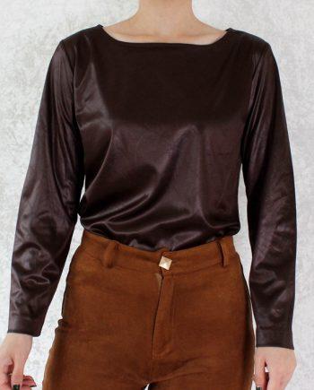 Vintage top bruin T705