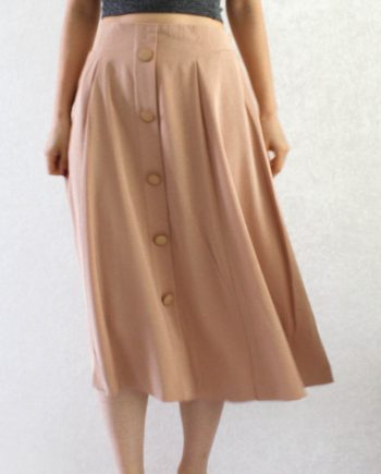 Vintage Rok Long Skirt Beige Size S T801